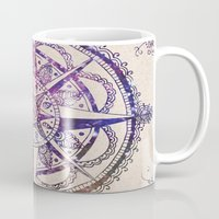 glitter Mugs featuring Voyager II by Jenndalyn
