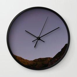 Untouched purple sky Wall Clock
