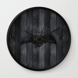 Bat and Man of Steel Wall Clock