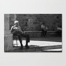 uomo italiano Canvas Print
