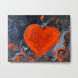 HeartNight Metal Print