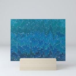 Wavy abstrac Mini Art Print