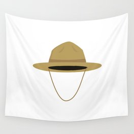 Brown park ranger hat Wall Tapestry
