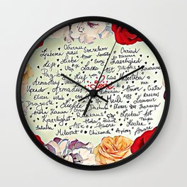 Love injected Wall Clock