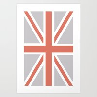 union jack Art Prints featuring Union Jack by Lolita Stein