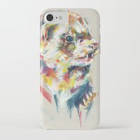 ferret iPhone & iPod Cases featuring Ferret V by Anaïs Chesnoy