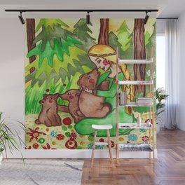 Mielikki and the bears Wall Mural