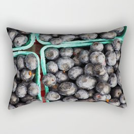 Bunches of Blueberries Rectangular Pillow