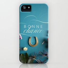 Bonne Chance - Good Luck! in French iPhone Case