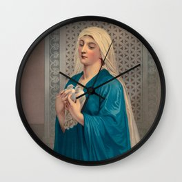 The mother of our Lord vintage print, 1879 Wall Clock