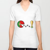 portugal V-neck T-shirts featuring Portugal by onejyoo