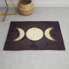 Triple Moon Goddess Rug