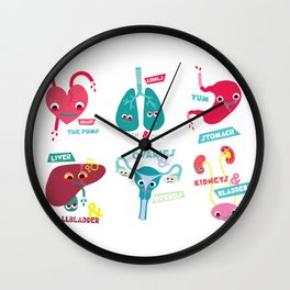 Organs of the Human Body Wall Clock