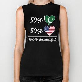 50% Pakistani 50% American 100% Beautiful Biker Tank