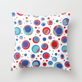 Eccentric Circles 13 Throw Pillow