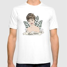 Twin Peaks (David Lynch) Laura Palmer Mens Fitted Tee MEDIUM White