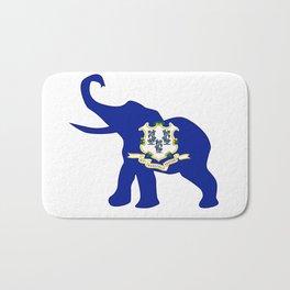 Connecticut Republican Elephant Flag Bath Mat