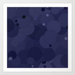 Peacoat Bubble Dot Color Accent Art Print
