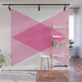 the pink triangles Wall Mural