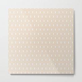 Geometric Abstract Pattern (Almond/White) Metal Print