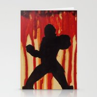 power ranger Stationery Cards featuring Red Power Ranger by Oksana's Art