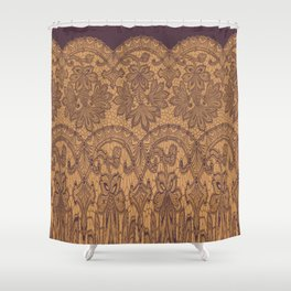 lace border stretched tonal Shower Curtain