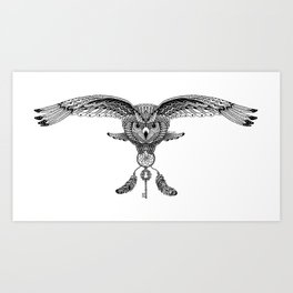The owl is dreaming Art Print