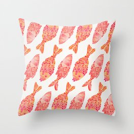 Indonesian Fish Duo – Melon Palette Throw Pillow