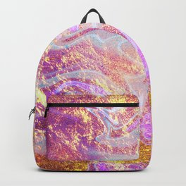 Vibrant Glitter Marble Backpack