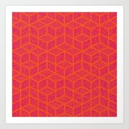Kenna (Rubine Red and Orange) Art Print