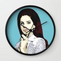 lana Wall Clocks featuring LANA by DVNJCK