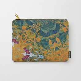 Orange and Green Flora Carry-All Pouch