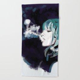 Smoking Colors. Beach Towel