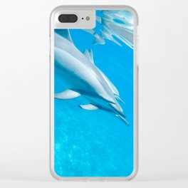 Dolphin Smiles Clear iPhone Case