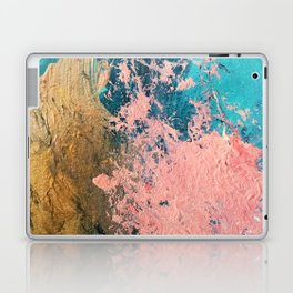Coral Reef [1]: colorful abstract in blue, teal, gold, and pink Laptop & iPad Skin