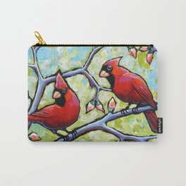 Two Cardinals Carry-All Pouch