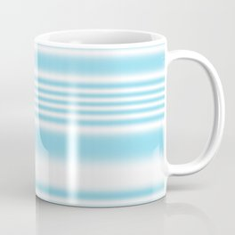 Sky Blue and White Stripes Coffee Mug