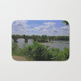 Tattered Trestle Over the Maumee Bath Mat