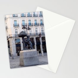 Bear and the Strawberry Tree in Puerta del Sol square, Madrid Stationery Cards