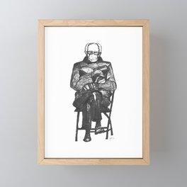 Bernie Sanders Mittens Framed Mini Art Print