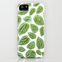 Leaves pattern (28) iPhone Case