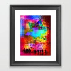 Modern Judaica- Wailing Star Framed Art Print