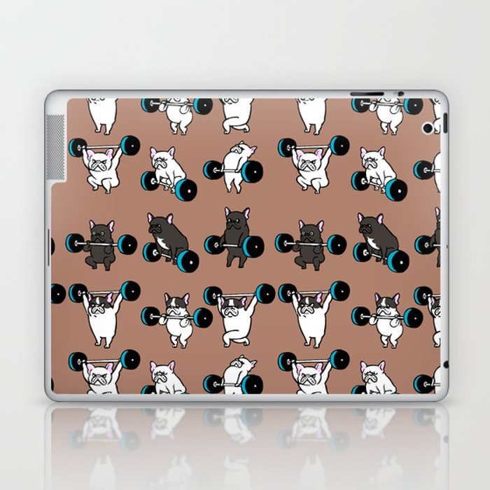 OLYMPIC LIFTING  FRENCH BULLDOG Laptop & iPad Skin