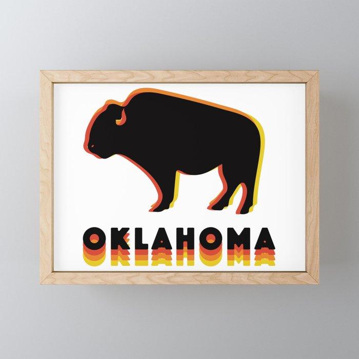 Retro Buffalo Framed Mini Art Print