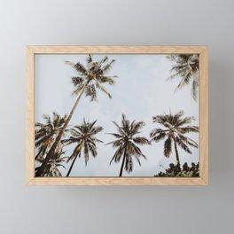 palm trees xiv / chiang mai, thailand Framed Mini Art Print