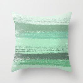 Stripey Mint Throw Pillow