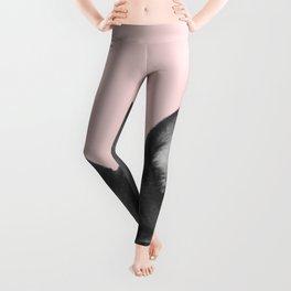 Blush pink Frenchie pop Leggings