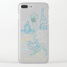 Turquoise Yoga Clear iPhone Case