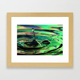 Trusting - Emotions Water Drop Photography Framed Art Print