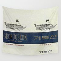 cigarette Wall Tapestries featuring Geobugseon - Vintage Cigarette by Fernando Vieira